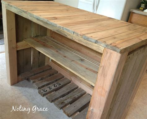 how to build a kitchen island bar how to a pallet kitchen island for less than 50