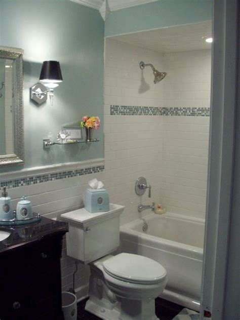 Spa Blue Bathroom Makeover In Black, White And Blue With