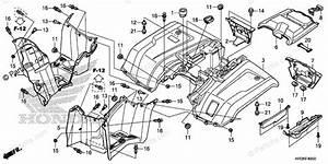 Honda Atv 2019 Oem Parts Diagram For Rear Fender