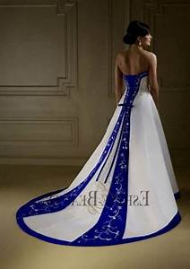 Royal Blue And White Wedding Gowns 2018 BestClotheShop
