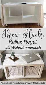Kallax Regal Von Ikea : ikea hack wohnzimmertisch aus kallax regal ~ Markanthonyermac.com Haus und Dekorationen