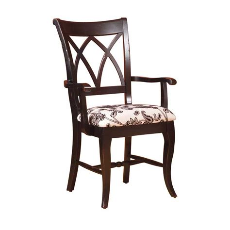 Double X Back Arm Chair  Americanmade Custom Furniture