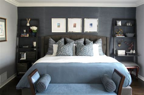 Masculine Master  Contemporary  Bedroom  Montreal By