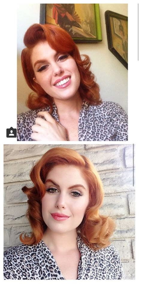 Simple 1940s Hairstyles by Doris Mayday Hair Style Simple Ginge In 2019 Hair
