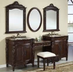 Trough Sink Vanity With Two Faucets by 87 Inch Double Vanities Vanity Make Up Stool