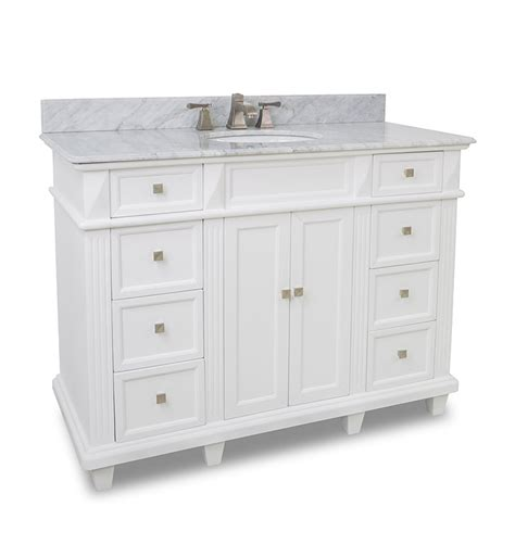 Elements 48 Inch Douglas Classic White Bathroom Vanity