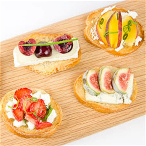 summer canapes cheese and summer fruit canapes tastespotting