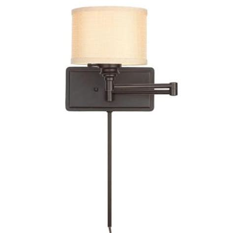 hton bay 1 light brookhaven swing arm sconce with 6 ft
