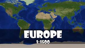 Europe 1:1500 scale in minecraft - YouTube