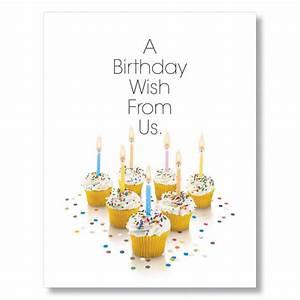Birthday Cupcakes Team Birthday Cards | Office Greeting Card