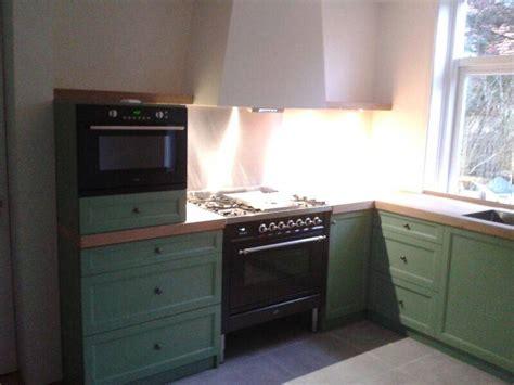 keuken oud hollands groen gespoten te boveldt