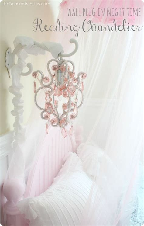 Girly Chandelier by And Timeless Girly Bedroom Makeover Mini Hanging