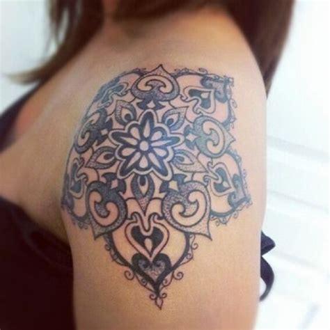 Fall Down Seven Stand Up Eight by 20 Shoulder Mandala Tattoos For Women And Girls 13 So