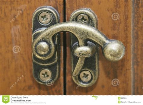 locking mechanism stock photo image  locking brass