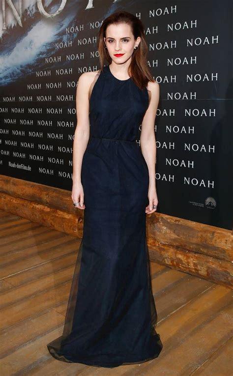Emma Watson Glows Chiffon Gown Noah Premiere News