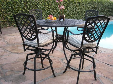 Outside Table Chairs by Cbm Cast Aluminum Outdoor Patio Furniture 5 Bar