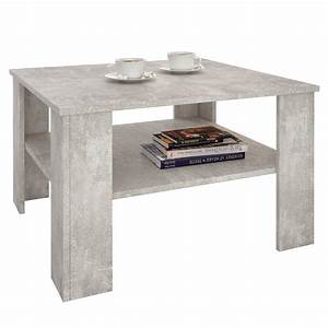Table Basse En Beton : table basse sejour en m lamin d cor b ton mobil meubles ~ Farleysfitness.com Idées de Décoration