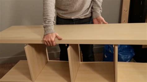poubelle bureau ikea diy fabriquer un meuble tv à partir d 39 une étagère ikea