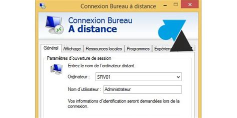bureau distant windows script de connexion bureau à distance mstsc windows