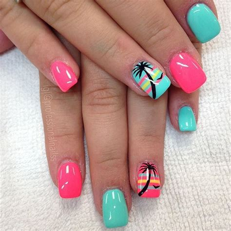pretty nails  summer time   vacations beauty