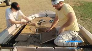 Bass boat restoration day one front deck carpet for Replacing boat floor