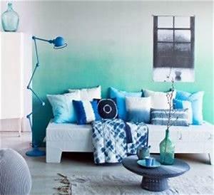 Deko Türkis Wohnzimmer : eine ombr wand in t rkis kolorat streichen wandgestaltung ombr t rkis wandgestaltung ~ Sanjose-hotels-ca.com Haus und Dekorationen