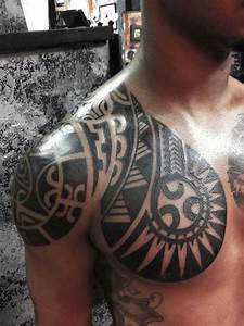 Polynesian chest piece #polynesian #tribal #tattoos # ...
