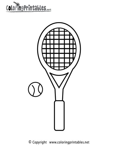 Kleurplaat Badminton by Tennis Racket Coloring Page A Free Sports Coloring Printable