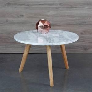 Table Basse Blanc Bois : table basse plateau marbre 3suisses ~ Teatrodelosmanantiales.com Idées de Décoration