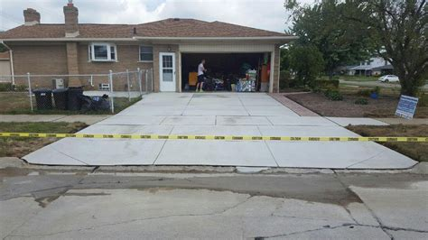 cement driveway reliable custom concrete inc
