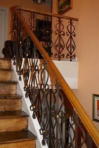 Escalier Fer Et Bois : escalier fer forge et bois netvani ~ Dailycaller-alerts.com Idées de Décoration