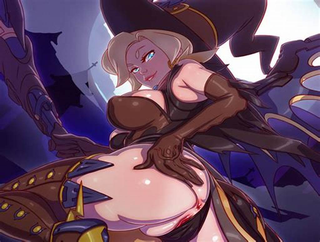 #Witch #Mercy #& #Her #Pumpkin #Servants #~ #A #Halloween #Hentai