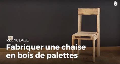 fabrication d une chaise en bois fabriquer une chaise en bois de palette recycler