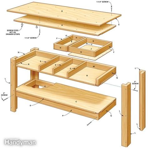 Simple Workbench Plans  The Family Handyman, Garage