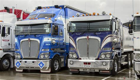 new kw trucks celebration of 50 years of kenworth trucks in new zealand
