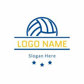 free volleyball logo designs designevo logo maker With volleyball logo design templates
