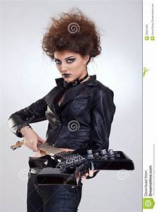 Rock Star Woman Stock Images - Image: 16027404