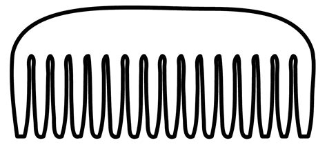 hair brush clipart black and white black comb clipart 9