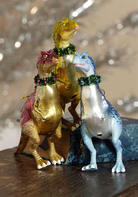 make it a cretaceous christmas dinosaur ornaments