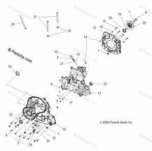 Polaris Atv 2009 Oem Parts Diagram For Drive Train  Main