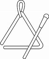 Triangle Clipart Clip Instrument Library sketch template