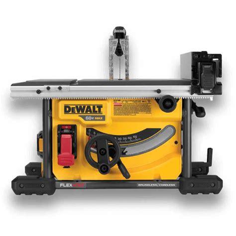bosch vs dewalt table saw dewalt power tool reviews ratedtoolbox
