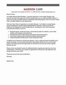 best graphic designer cover letter examples livecareer With sample cover letter for graphic design position