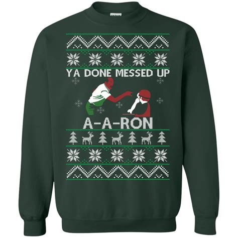 ron swanson ugly sweater ya done messed up a a sweater 3 the wholesale t shirt co