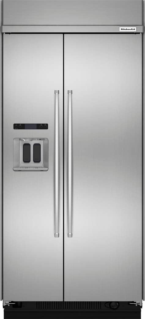 kitchenaid  cu ft side  side built  refrigerator