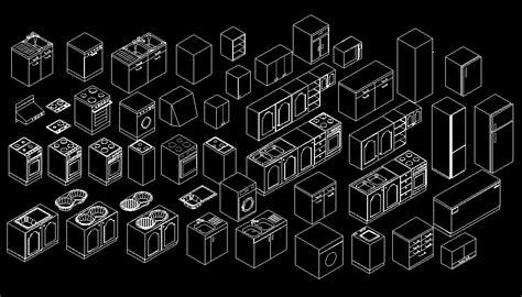 bloques autocad gratis de muebles de cocina en  dimensiones