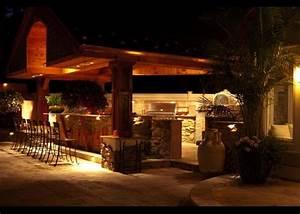Outdoor kitchen lighting design interior exterior