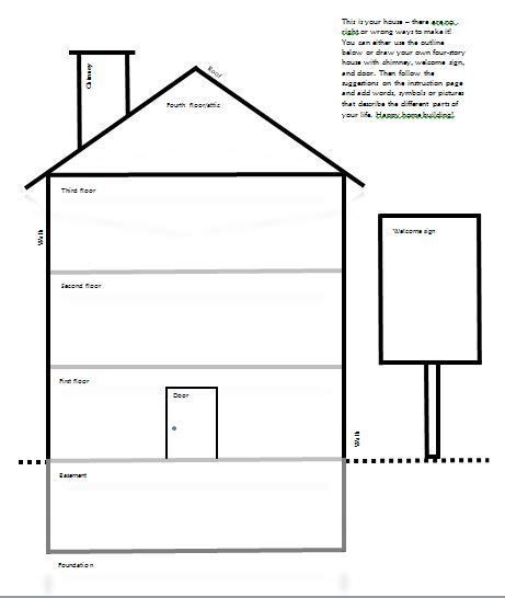 drawyourdbthousetemplate therapy worksheets counseling activities art therapy activities