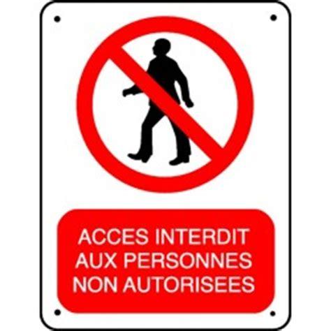 acheter bureau pictogramme accès interdit aux personnes non autorisées