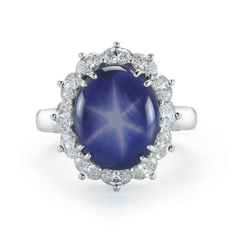 carat star sapphire diamond ring marshall pierce